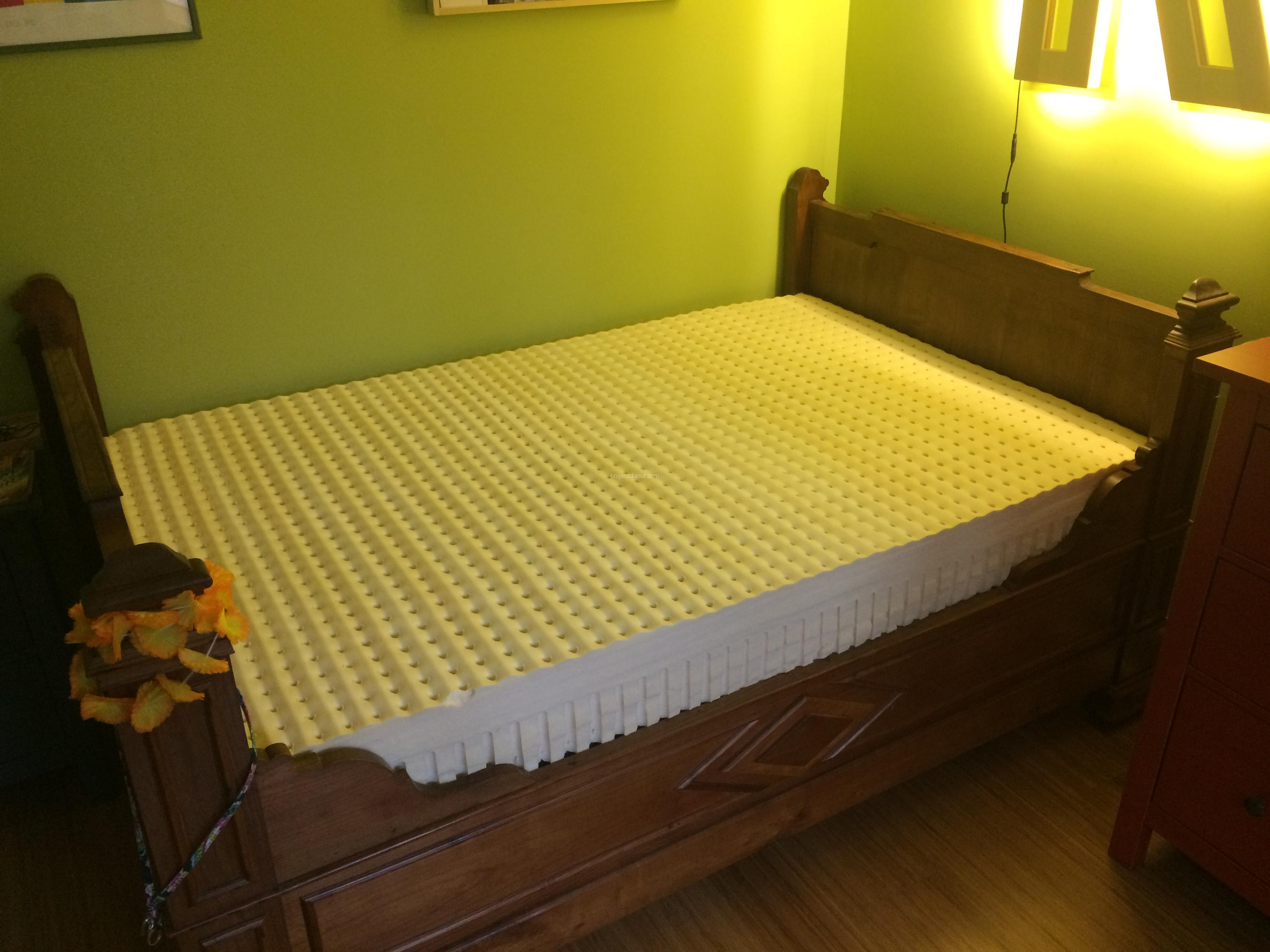 IKEA hack custom size slatted bed base Project du Jour