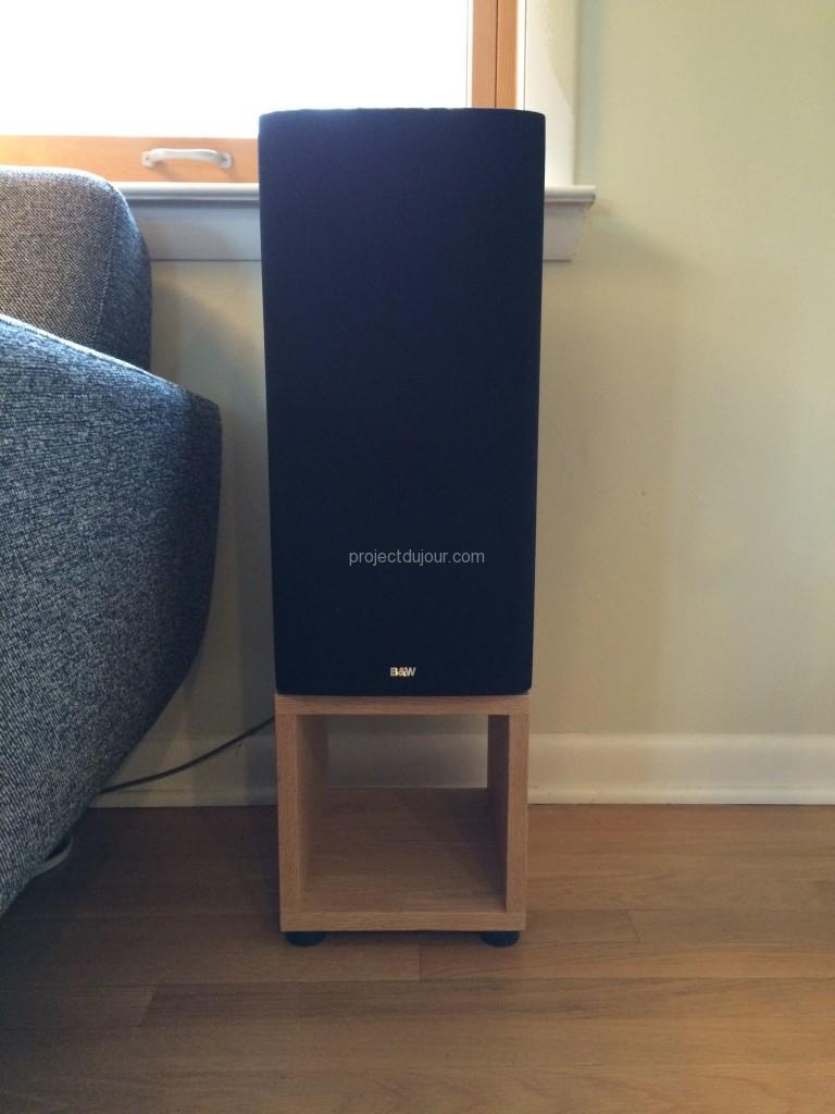 Oak Speaker Stands Project Du Jour