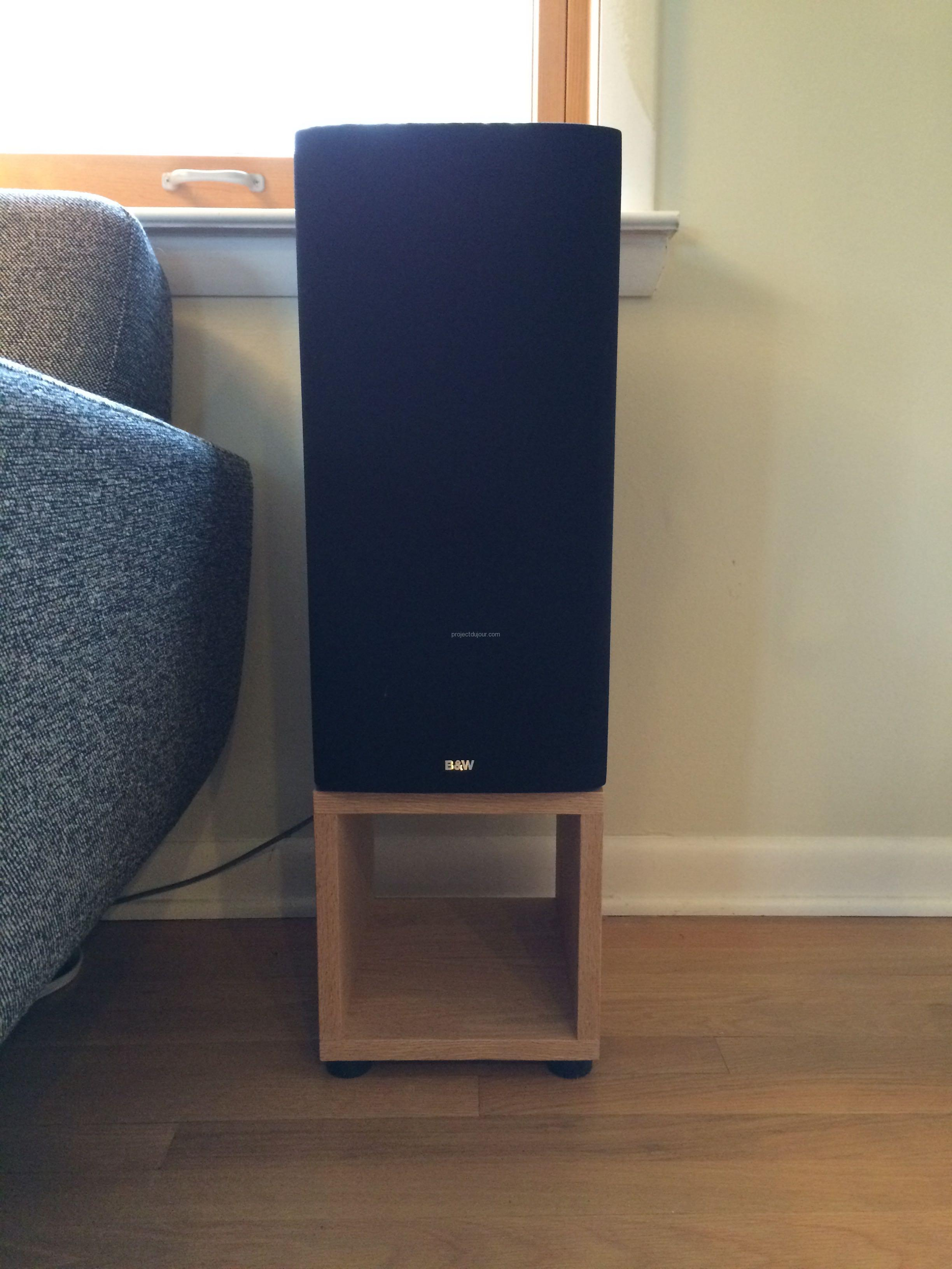 Oak Speaker Stands Project Du Jour