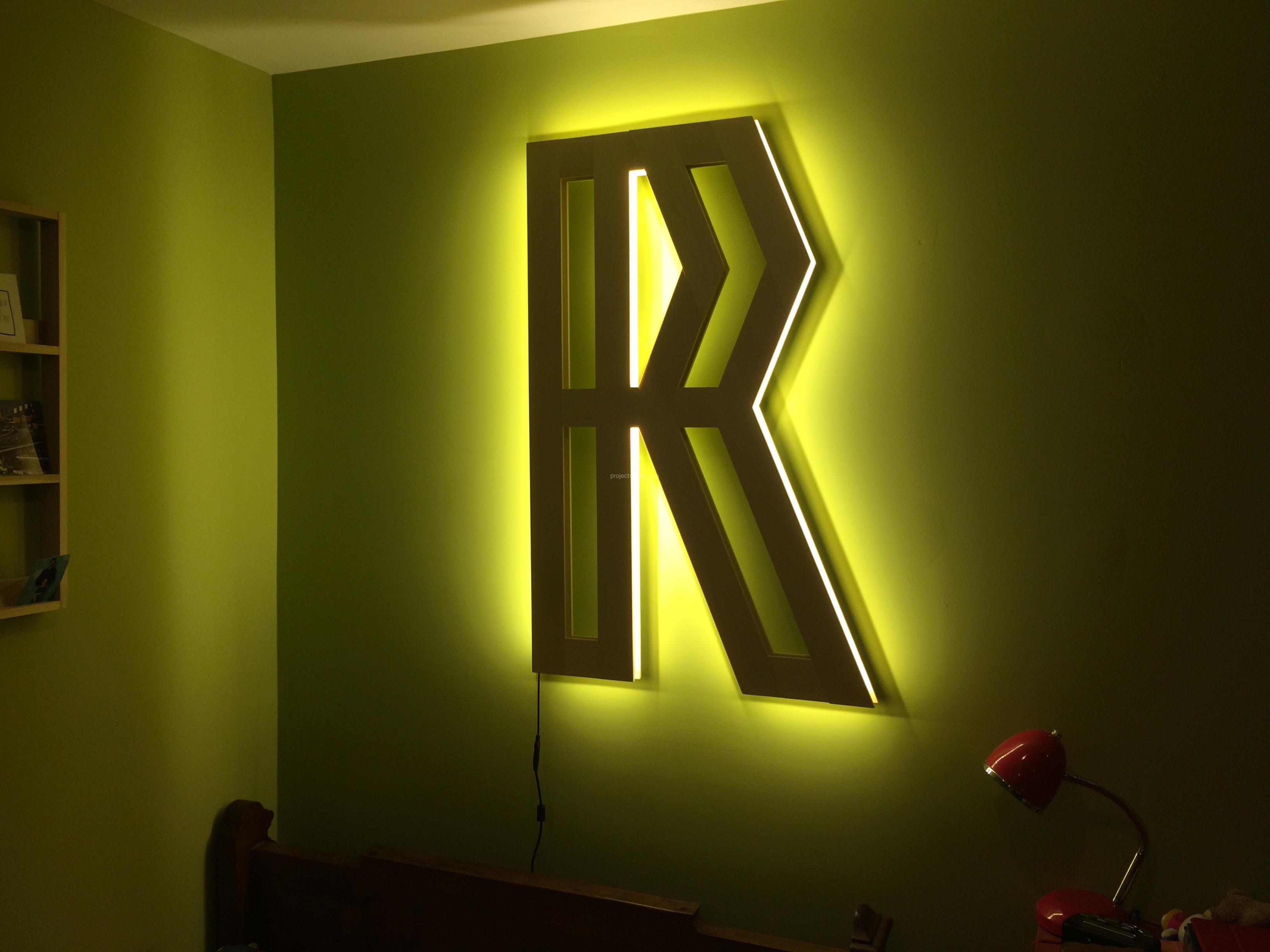 Quot R Quot Shaped Led Light Project Du Jour